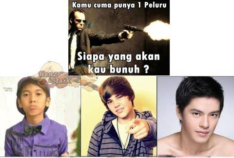 Ayo Mau Ngbunuh Yg mana?? A.Iqbal B.Bieber C.Morgan