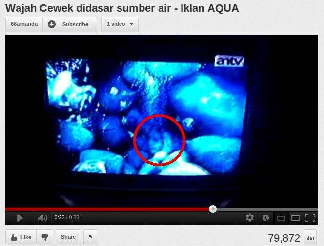 Penampakan Wajah Cewe Didasar Sumber Air, Iklan Aqua