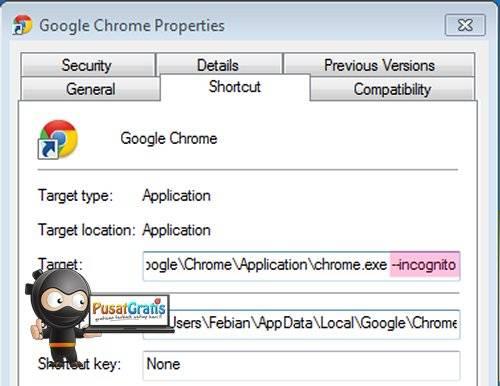 Как создать ярлык google chrome incognito