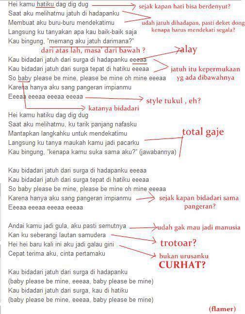 Fakta bahwa lagu CJR tu gaje smua isinya.... Wow nya mana kk wkakwkawkkakwa