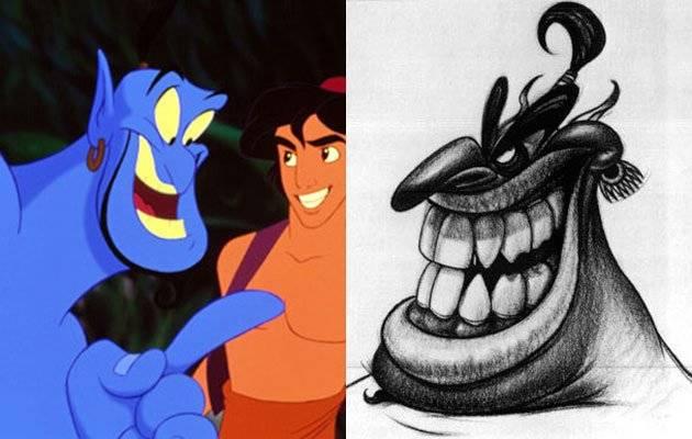 """TOKOH KARUN CIPTAAN WALT DISNEY Jin unik nan menawan yang disuarakan Robin Williams adalah hal terbaik dalam film """"Aladdin"""", tetapi konsep awal untuk karakter itu secara mengejutkan mirip dengan karakter jahat Jafar."""