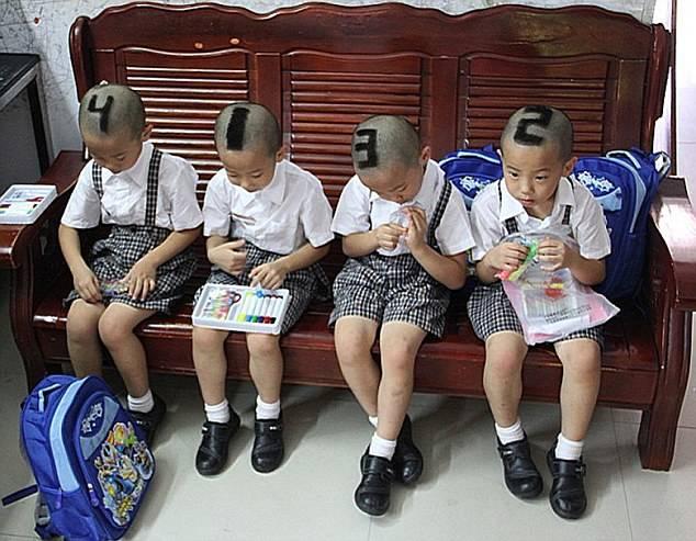WOW Gaya rambut unik untuk bedakan kembar empat...