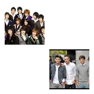 boyband yang mana yang kamu suka 1.super junior 2.one direction