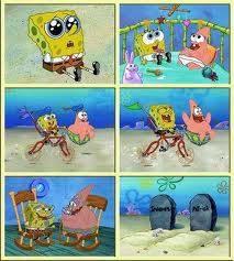 inilah gambar petrik dan spongebob dari kecil sampai meninggal