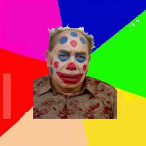 H.muhidin wajah di makeup jdi badut