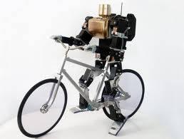 Robot Ini bisa bersepeda Bisa juga dadah-dadah Keren kan Klik WOW yah