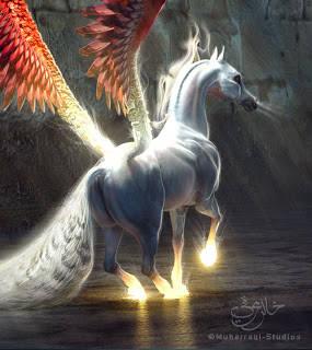 Buraq Buraq adalah seekor binatang yang rupanya seperti kuda. Saiznya kecil sedikit daripada kuda tapi lebih besar dari keldai. Lariannya sepantas kilat. Selangkah lompatannya, sejauh mata memandang jaraknya. Buraq akan memanjangkan kaki belak