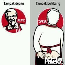 hahaha keren ya,pantesan gambar KFC hanya kepalanya saja wownya dong seikhlasnya