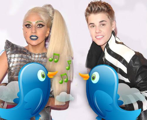 Justin Bieber & Lady Gaga berlomba untuk mendapatkan followers twitter. Lady Gaga : 33,106,401 followers Justin Bieber : 33,040,385 followers Say WOW donk :)
