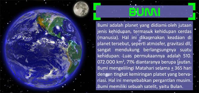 Inilah Deskripsi Atau Biografi Bumi Planet Tempat Kita Tinggal Dari Dulu Sampai Sekarang. Jangan Lupa WOW nya Ya !