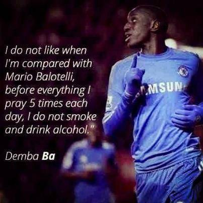 Ternyata Demba Ba tidak mau disamakan dengan Balotelli Mantab (y)