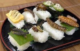 Makanan dari serangga Makanan berbahan serangga ini disebut entomophagy, yang umum di konsumsi di seluruh dunia. Hidangan yang berasal dari belalang, jangkrik, kalajengking, laba-laba, cacing dan sebagainya, banyak ditemui di Bangkok, Thailan