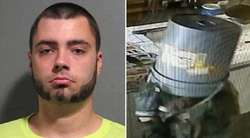 Konyol, Pencuri Lupa Bawa Topeng, Tutup Mukanya Dengan Ember