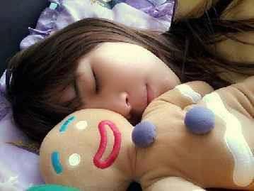 walaupun tidur ce Christy Chibi lagi tidur,tetap imut kan?,wownya jangan lupa ya