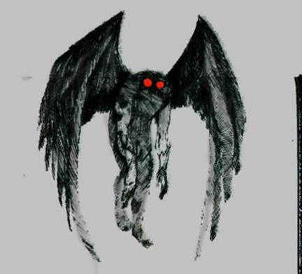 Mothman berarti manusia ngengat, tetapi Mothman lebih dekat menyerupai beberapa jenis burung yang biasa digambarkan sebagai sesosok makhluk bersayap dan setinggi manusia,bermata merah,,, klw g ngeWOW dia akan datang di kamarmu,,, hehehe.