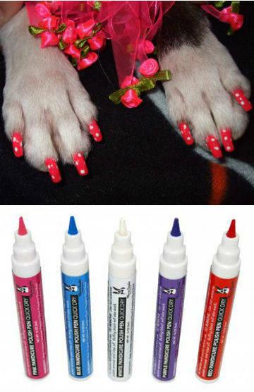 Bukan cuma manusia aja yang bisa cobain Nail art.. Anjing pun bisa... Niihhhh buktinya,, lucu kan..?? :)