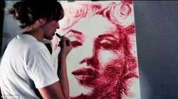 WOW!! Lukisan Ini Dilukis Menggunakan Bibir