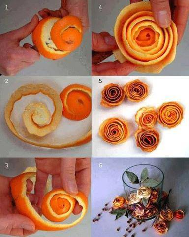 Very creatively made Orange roses! #cool #creativity
