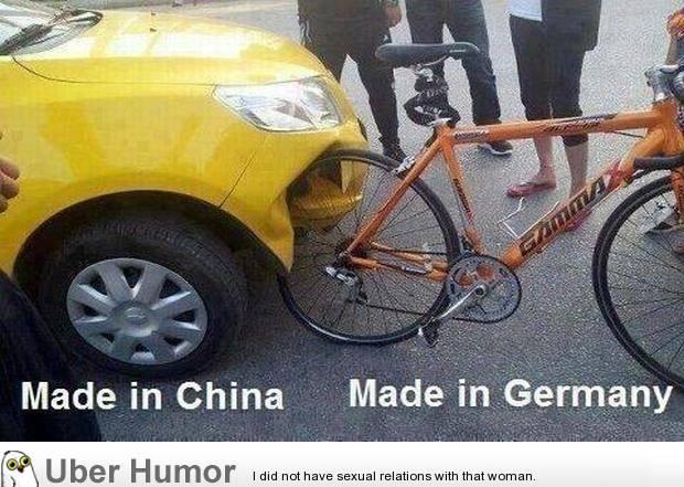 inilah perbedaan antara made in china vs made in germany........