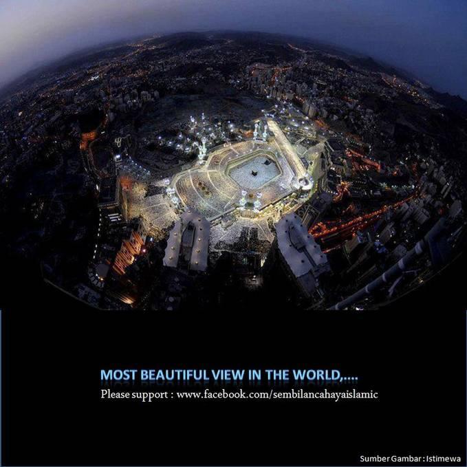 penampakan masjid nabawi dan makkah dari atas, terlihat sangat indah dan cerah ternag benderang .. WOWnya donk ..