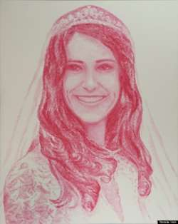 Percaya gak klo ini dilukis dengan bibir? Adalah Natalie Irish, seniman asal Houston, Amerika, yang dikenal mahir menggambar dengan bibir.