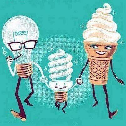 mungkin Lampu + Es krim = Lampu Tornado :v