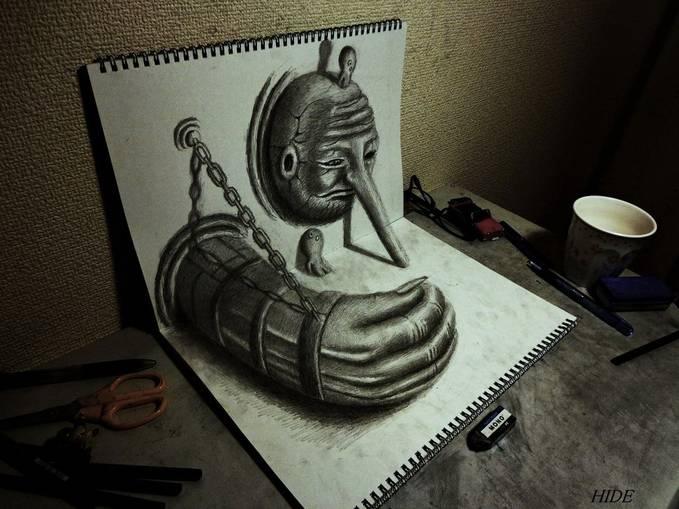 hanya dengan pensil biasa,bisa menciptakan gambar yang luar biasa! WOW!