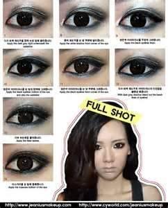 Korea celebrity eye makeup tutorial :) WOWnya yah :)