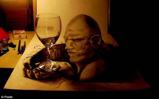 Gambar 3D yang Seakan Muncul dari Kertas yang suka say WOW.........