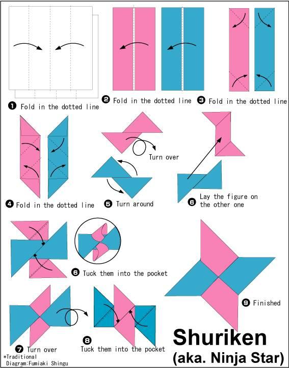 cara membuat shuriken dari kertas origami ni, Eitsss jangan lupa wow nya dong ;D