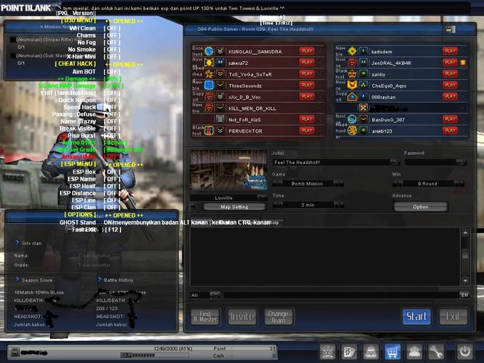 Point blank wallhack 2013 download ph point blank wallhack indonesia cheat