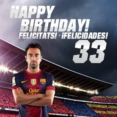 Happy birthday Xavi ...:) smoga makin tambah Hebat dilapangannn..:) Barcelonistas WOWnya dong....