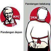 INI LOGO KFC KALAU DILIHAT DR PANDANG BELAKANG !!