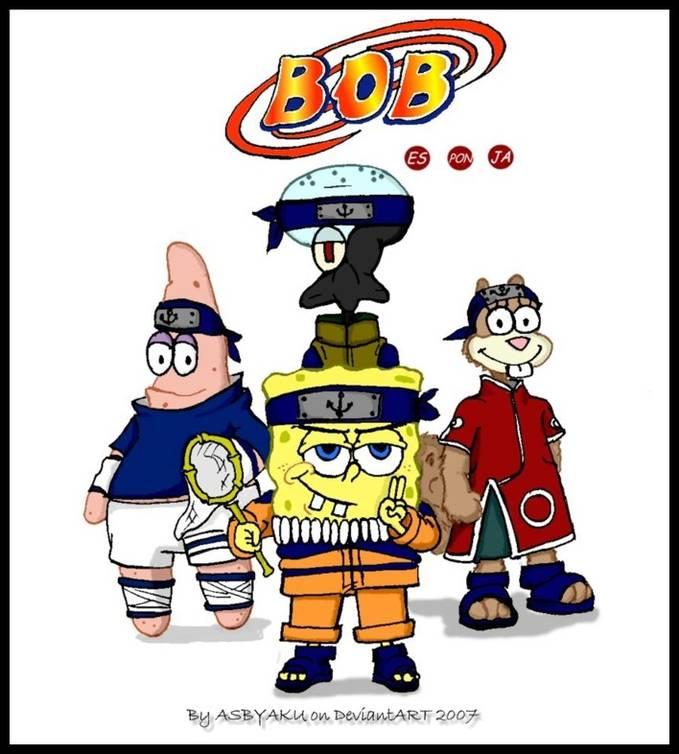 the lagend sponge-BOB ninja