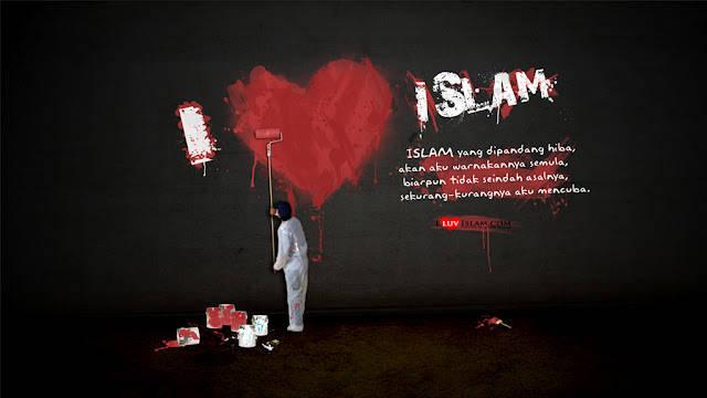 melukis adalah hidup dan kulukis islam sebagai hiasan di kehidupanku