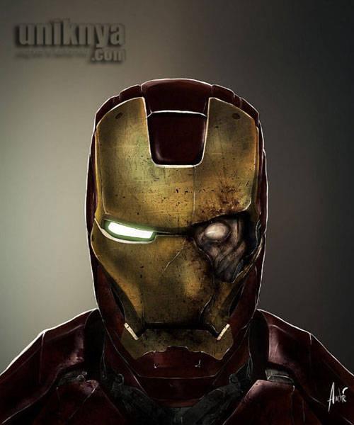 foto iron man yang menjadi zombie