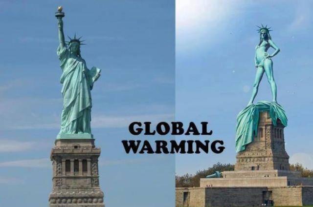 DAMPAK JADINYA KALAU PATUNG LIBERTY TERKENA GLOBAL WARMING