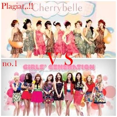 anda lebih memilih cherry belle yang mengikuti gaya dan nada lagunya girls generation,. atau SNSD ( girls generation ) yang paling no satu,..?? jangan lupa woow,. nya ya,!