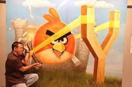 klik wow maka angry bird nya akan terlempar :D
