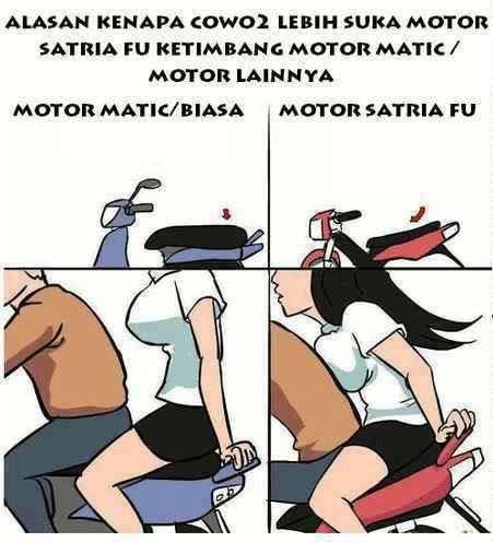 Alasan Mengapa Cowo Cowo suka pada Motor Satria FU jangan lupa WOW nya kan kasian udah buat buat ga di kasih WOW