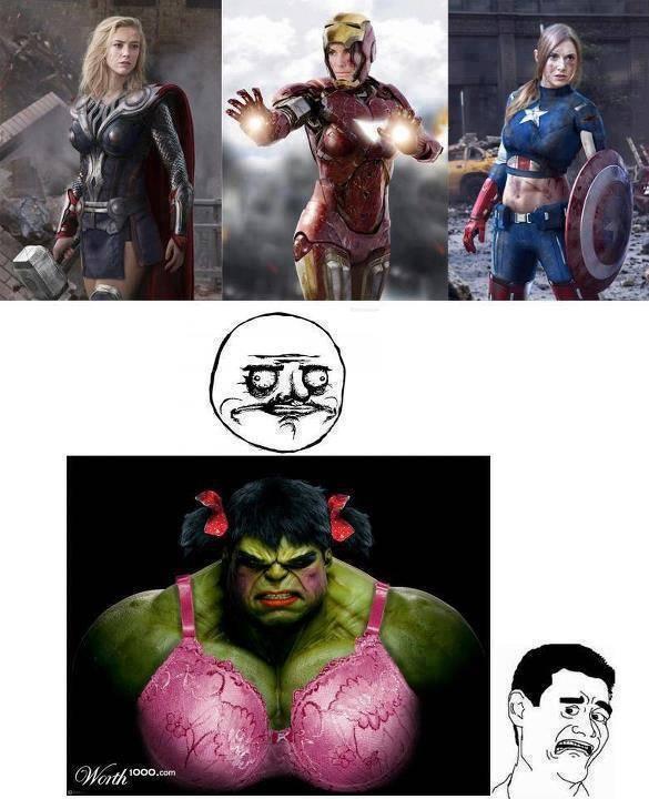 The Avengers versi cewek, WOW kalo gak mau disaperin, hehe