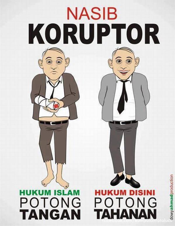 perbedaan koruptor di indonesia dan di islam...