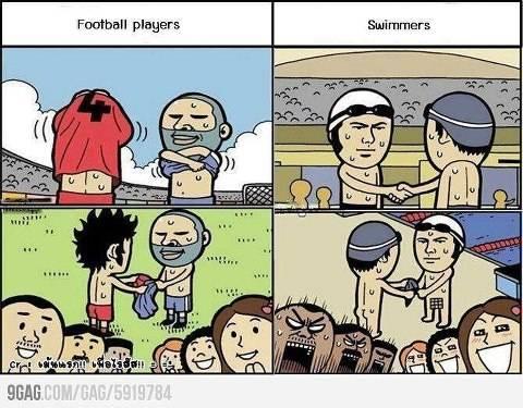 Perbedaan Pemain Bola & Perenang hahahahaha...!! Jangan lupa WOW-nya ^_^v
