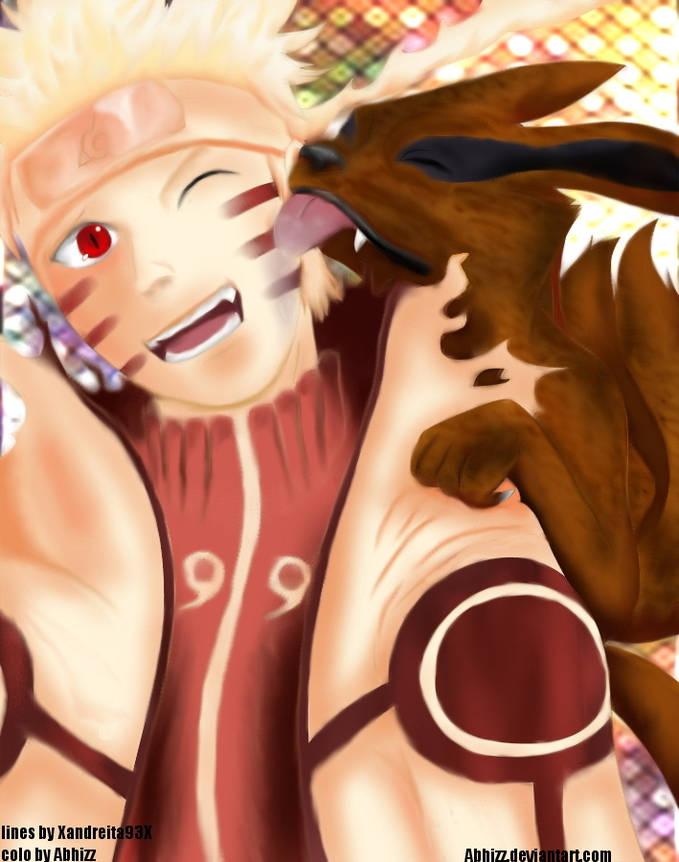 Naruto Sage Mode + Bijuu mode