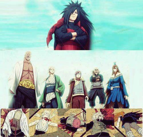 TRUE, madara vs 5 kage
