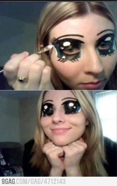 Begini nih cara membuat mata anime... Hahaha