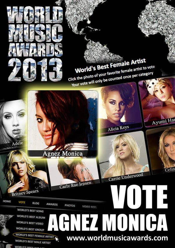 Vote agnez monica ya kalo vote sama aja kita dukung indonesia dan kalo kalian vote juga di wow ya