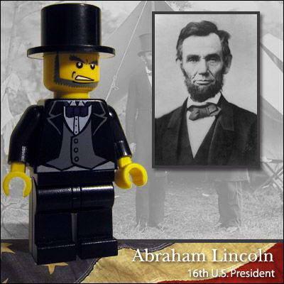 PATUNG LEGO abraham lincoln