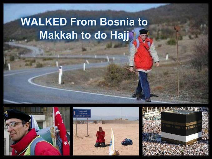 Subhanallah! Lelaki ini berjalan kaki dari BOSNIA ke MEKAH untuk tunaikan haji... Perjalanan nya untuk sampai mengambil masa hampir setahun... Berapa WOW untuk dia...??