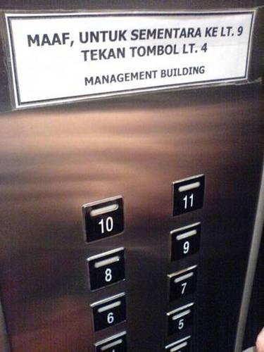 Di lift saja kita bisa nyasar...:D Klik WOW ya friends...